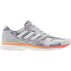 adidas Adizero Adios 4 Shoes Damen grey two/footwear white/hi-res coral